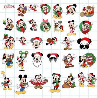 Mickey & Minnie Mouse Christmas SVG Bundle